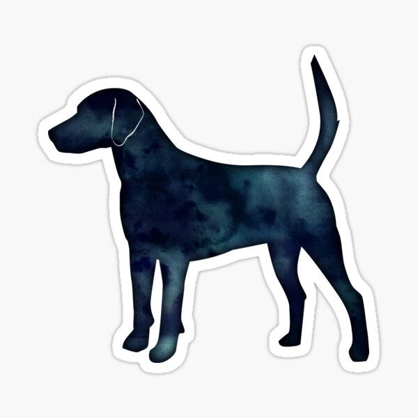 Harrier Hound Black Watercolor Silhouette Sticker