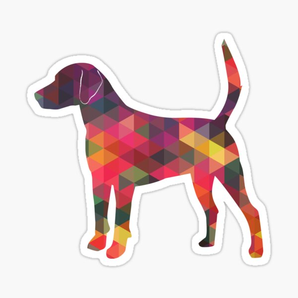 Harrier Hound - Colorful Geometric Pattern Silhouette - Multi Sticker