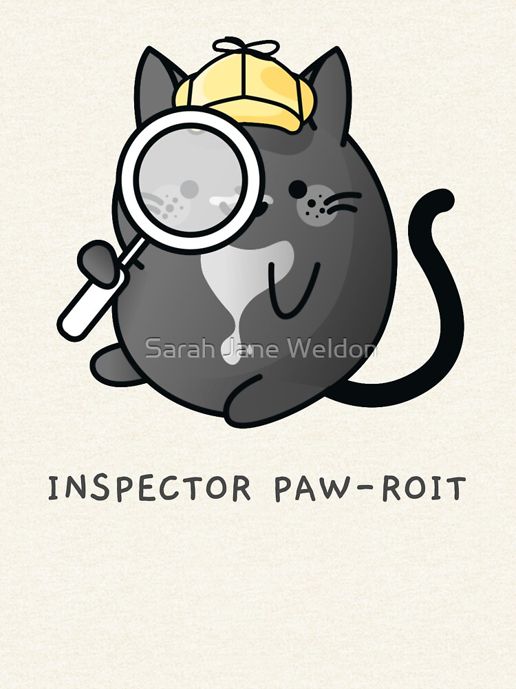 Inspector Pawroit Black Tuxedo Cat Detective by SarahRowsSolo