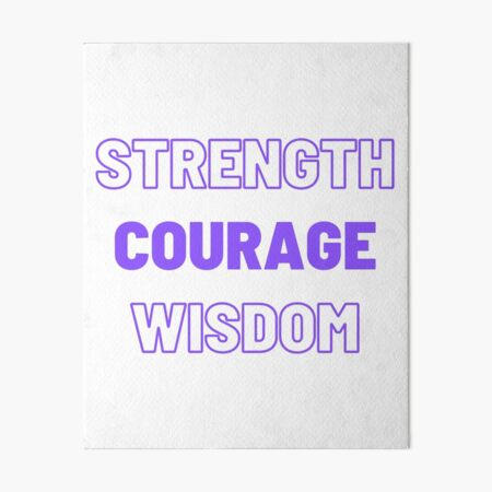 Strength Courage Wisdom (Purple), Calming Art, Printable Wall Art, Buddhism Wall Art Art Board Print