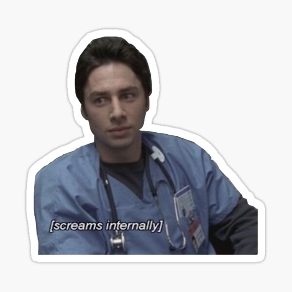 JD screams internally Sticker