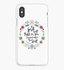 Exodus 14:14 iPhone Case/Skin