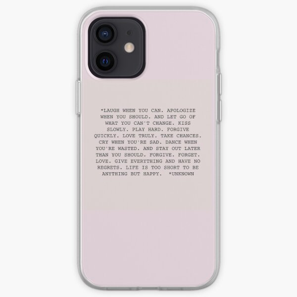 Life Quote iPhone Soft Case