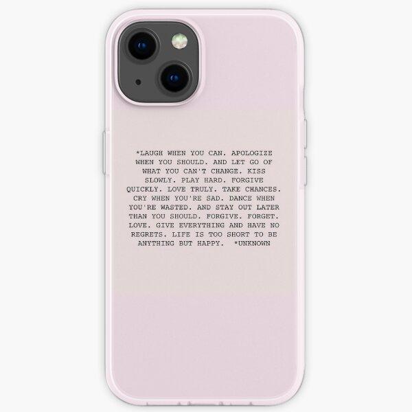 Life Quote iPhone Soft Case
