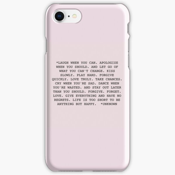 Life Quote iPhone Snap Case