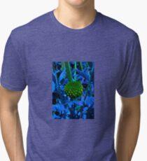 The green ball flower Tri-blend T-Shirt