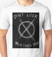 Slenderman Logo T-shirt version 1. (black Unisex T-Shirt