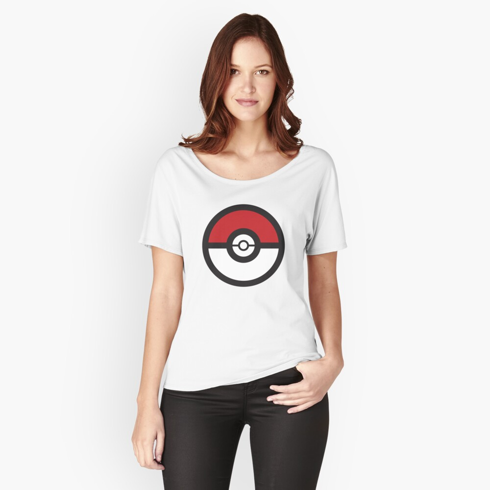 Pokémon GO Pokéball Squad by PokeGO Women's Relaxed Fit T-Shirt Front
