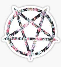 Floral Pentagram Sticker