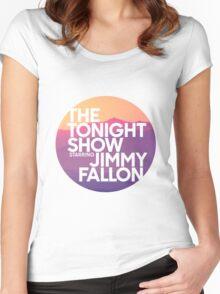 Sunset Jimmy Fallon Women's Fitted Scoop T-Shirt