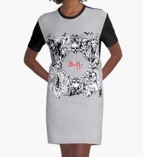 Slaying Graphic T-Shirt Dress