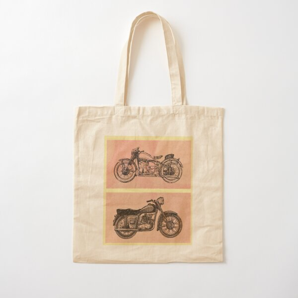 Vintage Motorcycles Cotton Tote Bag