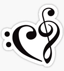 We Heart Music - Black Sticker
