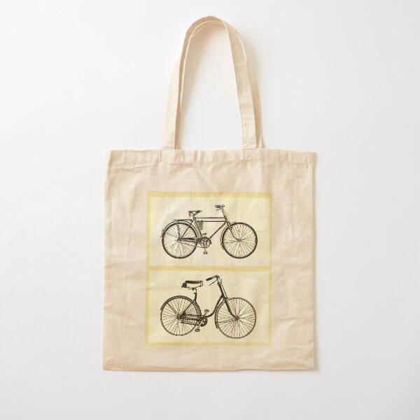 Vintage Bikes Cotton Tote Bag