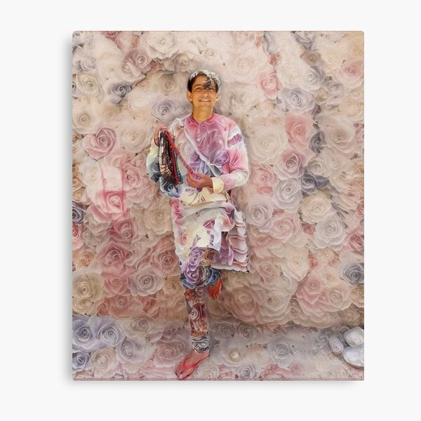 Portrait of a Young Dreamer - Roses Metal Print