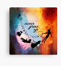 Nebula Never Grow Up Canvas Print