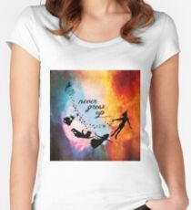 Nebula Never Grow Up Women's Fitted Scoop T-Shirt