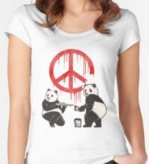 Pandalism 2 Peace Sign Women's Fitted Scoop T-Shirt