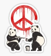 Pandalism 2 Peace Sign Sticker