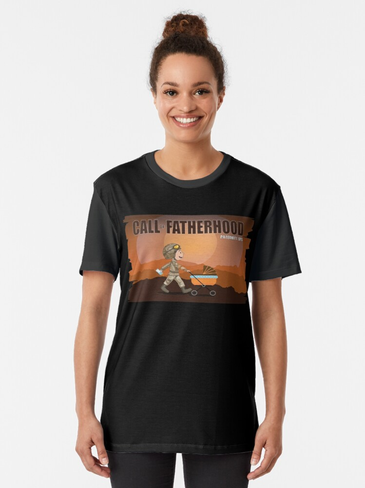 Alternate view of CALL OF FATHERHOOD - PATERNITY OPS V2 Graphic T-Shirt