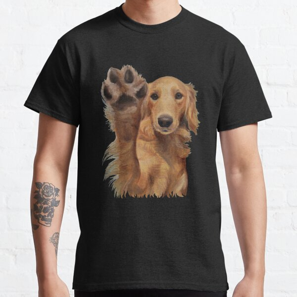 Golden Retriever High Five  Classic T-Shirt