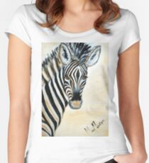 MY ZEBRA BABY - Burchell's zebra Women's Fitted Scoop T-Shirt