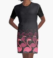 Flamingo March Graphic T-Shirt Dress