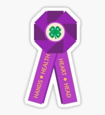 4-H Big, Purple Ribbon Sticker
