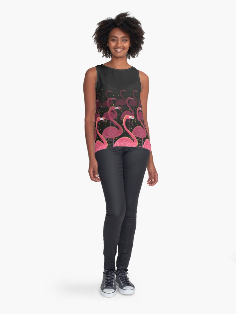 Alternate view of Flamingo March Sleeveless Top