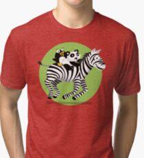 Black and White Buddies Tri-blend T-Shirt