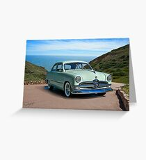 1950 Ford Custom Deluxe Coupe Greeting Card