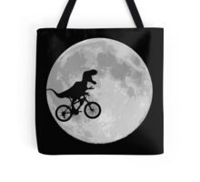 Dinosaur Bike and Moon Tote Bag