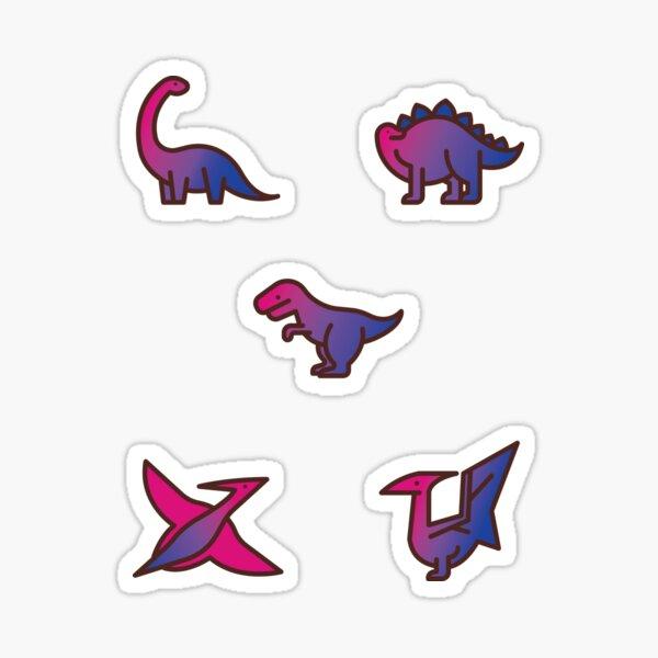 Discreet Bisexual Pride Dinosaurs Sticker
