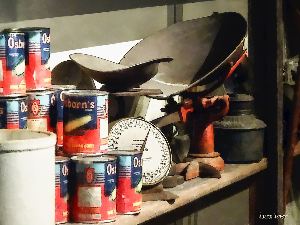 Scale and Canned Goods by Susan Savad