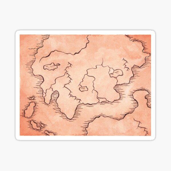Dwarven Map Sticker