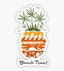 Beach Time - dusk Sticker
