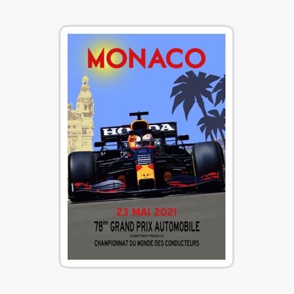 Max Verstappen Grand Prix von Monaco 2021 Sticker