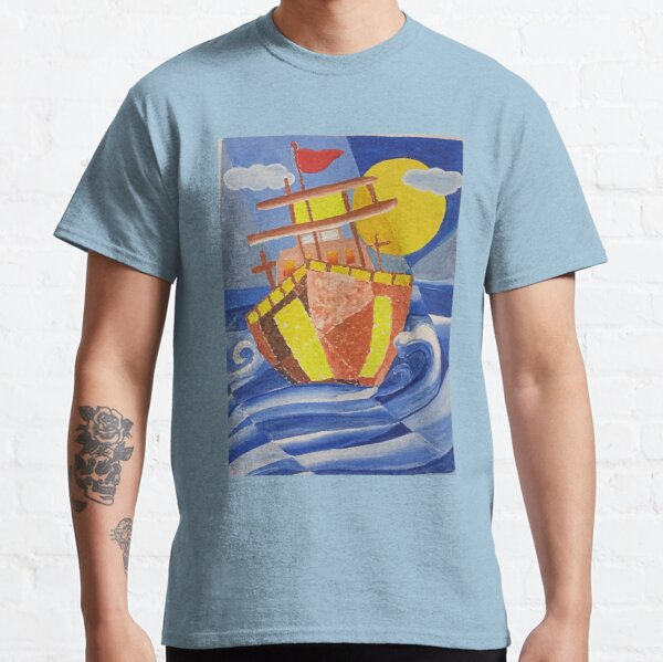 Titanic ship and the waves Classic T-Shirt