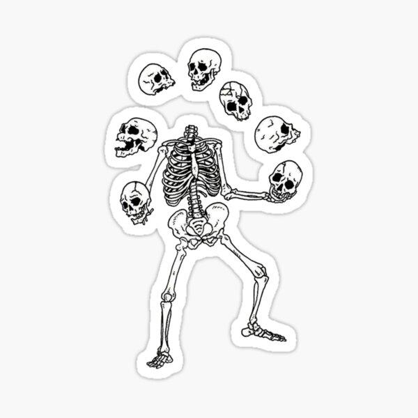 juggling skeleton Sticker