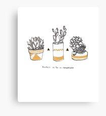 Rude Succulents Canvas Print