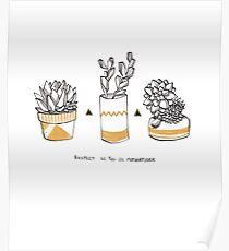Rude Succulents Poster