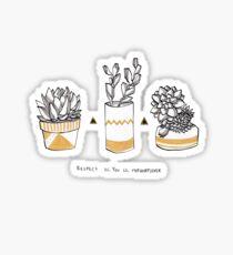Rude Succulents Sticker