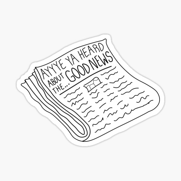 Kanye Front Page Sticker
