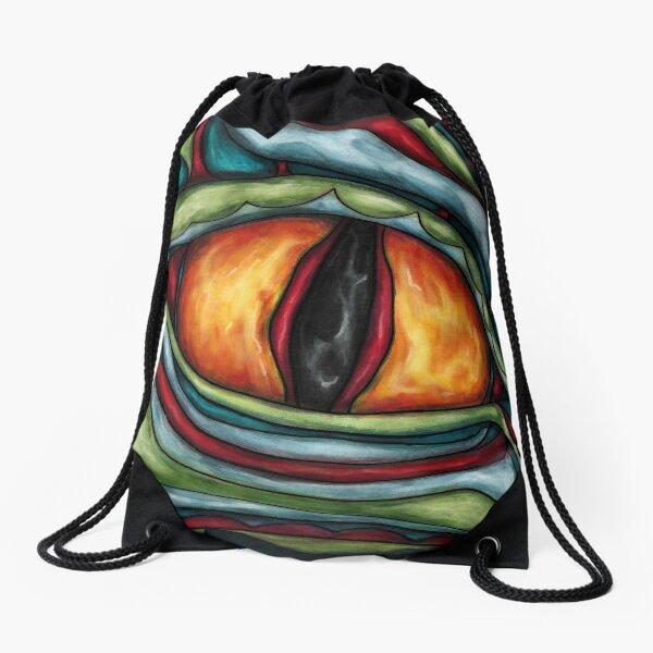 Dragon eye painting Drawstring Bag