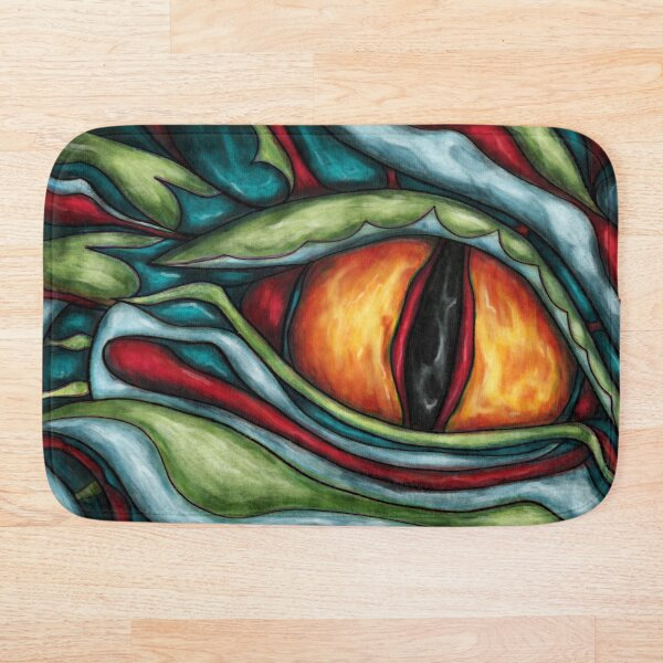 Peinture oeil de dragon Tapis de bain