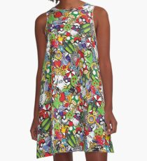 Video Game Mash-Up A-Line Dress