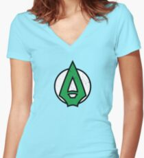 Green Arrow Women's Fitted V-Neck T-Shirt