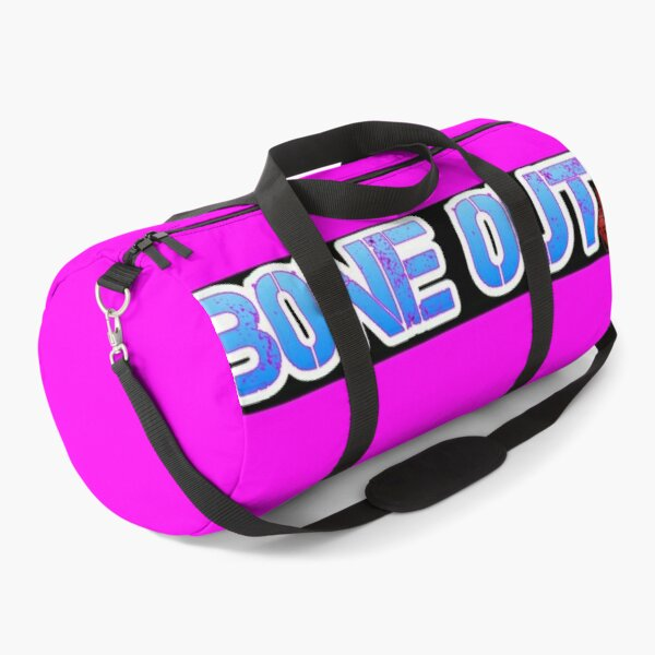 HOT PINK COLLECTION BONE OUT!  Get inspired to live! Duffle Bag