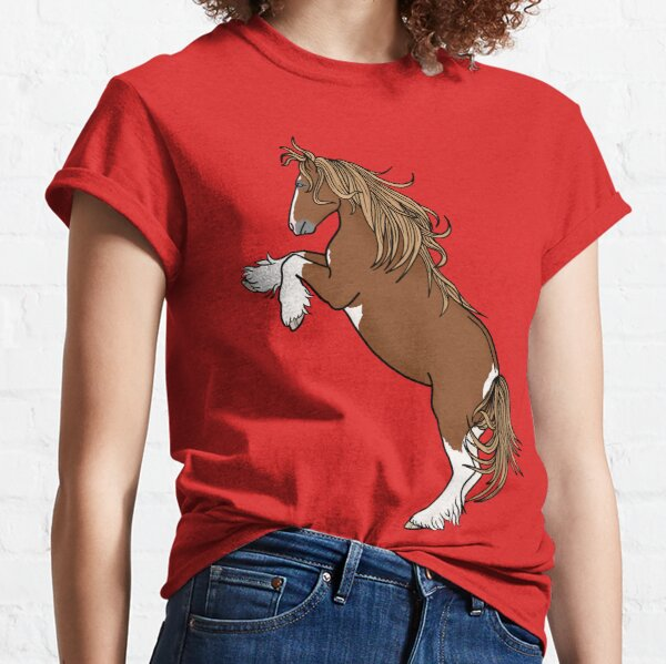 Rearing Gypsy Vanner- Flaxen Chestnut Classic T-Shirt