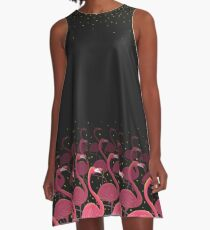 Flamingo March A-Line Dress